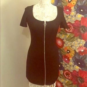 NWOT Zara black fitted zip up dress